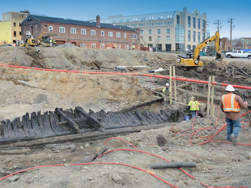 three 18th century ships found in old town alexandria tell a story