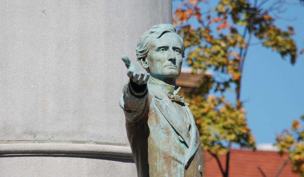 The sculptor who made the Davis statue served as the Valentine museum's first president.