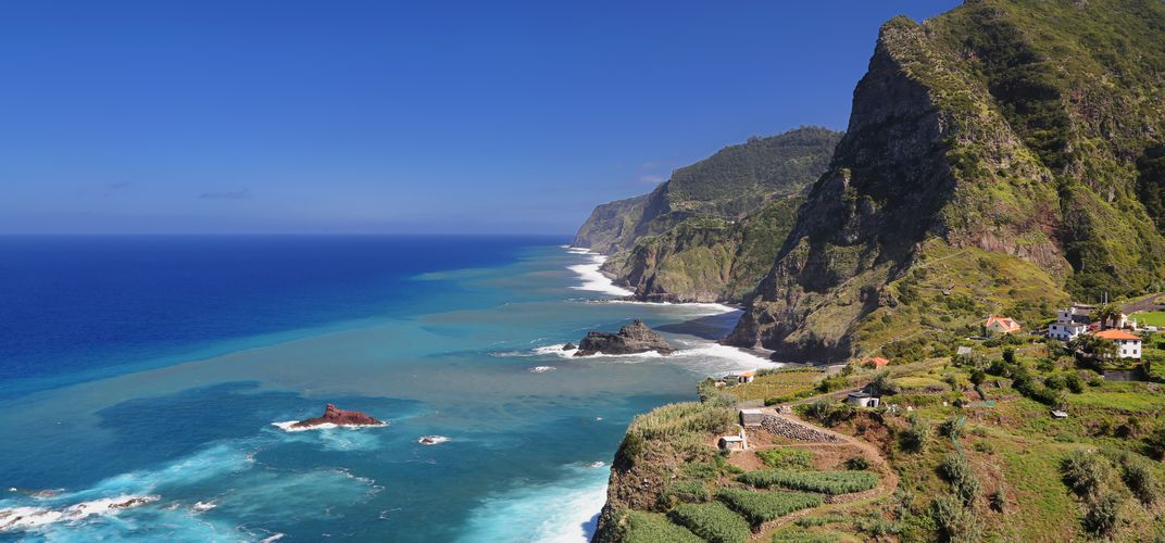 The coastline of Madeira, Portugal