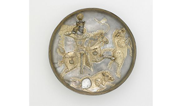 Plate, Sasanian period, Reign of Shapur II, 4th century