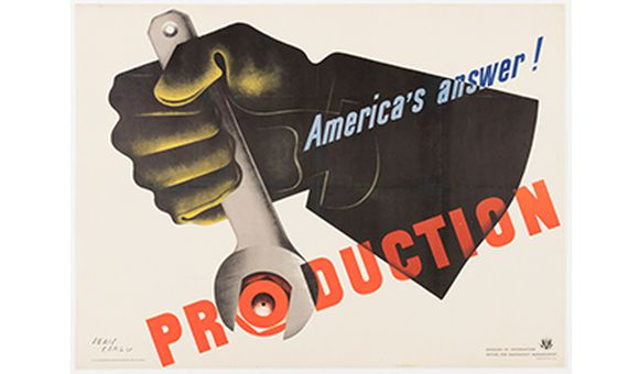 Poster, America's Answer! Production