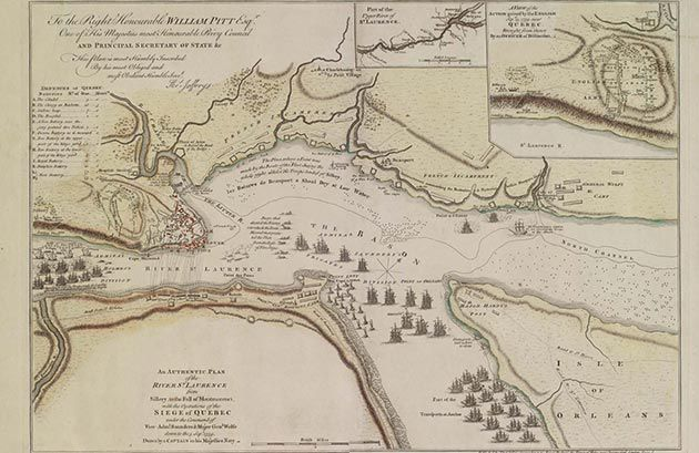 Plan of the River St Laurence and siege of Quebec