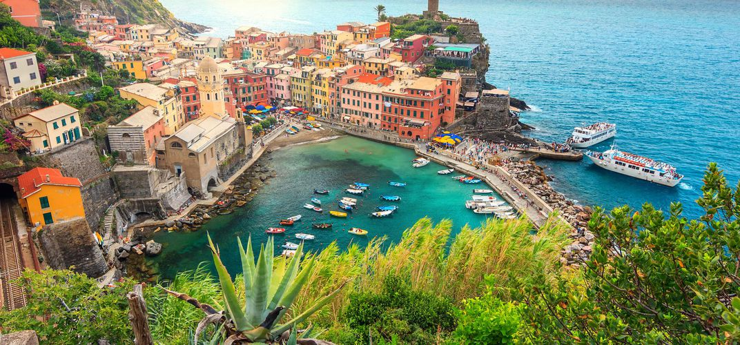 The village of Vernazza, along the Cinque Terre