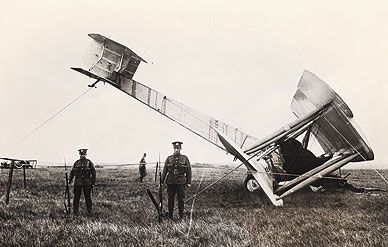 John Alcock and Arthur Brown survived a not-so-pretty landing in an Irish bog.