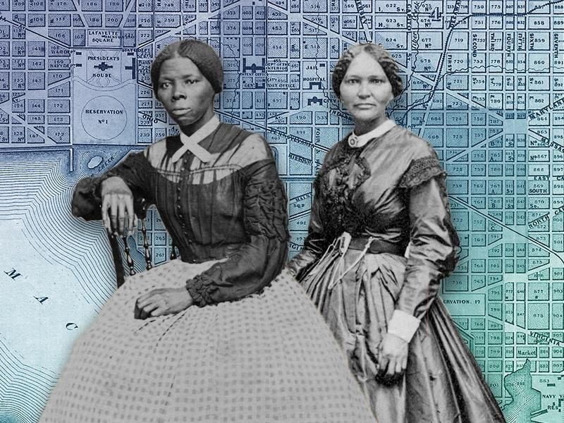 Illustration of Harriet Tubman and Elizabeth Keckley