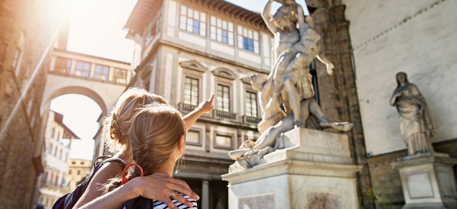 Treasures of Tuscany: A Family Journey <p>Grab your family for a fun-filled stay in Tuscany! Visit nearby Florence, Siena,&nbsp;and&nbsp;San Gimignano; enjoy hands-on art&nbsp;and culinary activities; and stay in a medieval village at an upscale, historic Tuscan villa (with a refreshing pool).</p>
