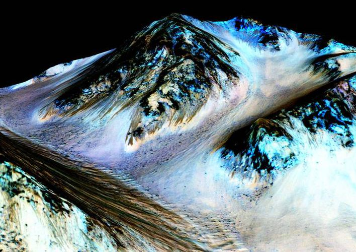 Caption: Mars' Streaks of Flowing Water May Be Sand
