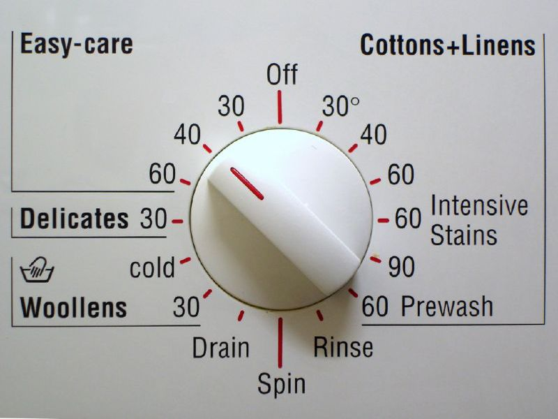laundry machine dial
