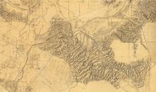 Rumsey map of Los Angeles LA