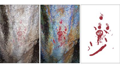 Rock Art and Footprints Reveal How Ancient Humans Responded to Volcanic Eruption