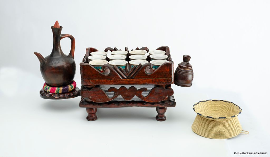 Conversation is made easier over coffee, Alifom suggests, as caffeine awakens the mind and encourages people to open up. His coffee server is now in the Smithsonian collections.