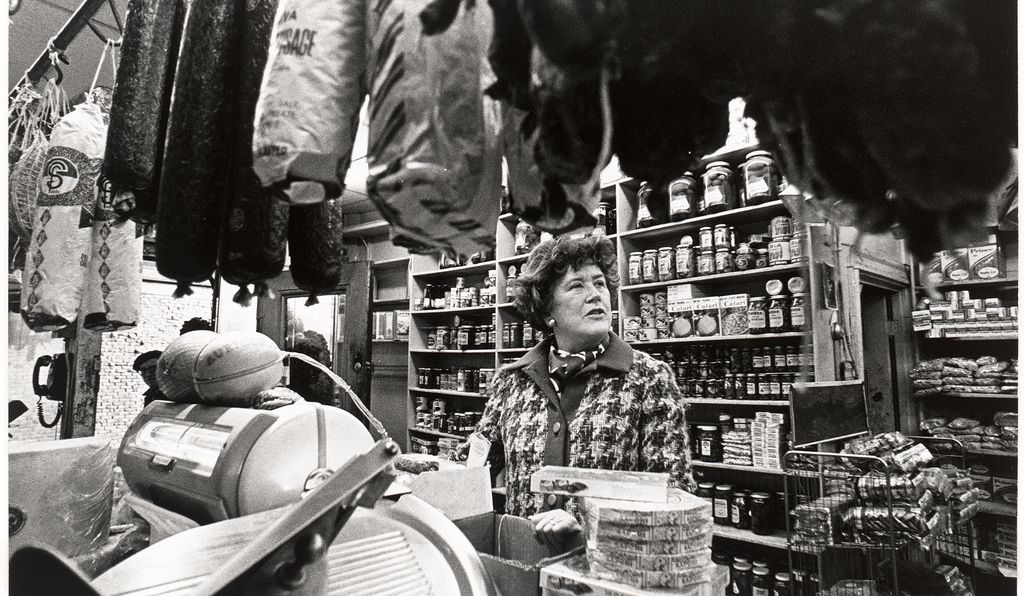 "In 1977, when this photograph of Julia Child was taken, she was working on a new television series, ""Julia Child & Company."" The celebrity chef was very much in the public eye, having been featured on the cover of <em>People</em> magazine in 1975."