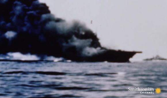 Preview thumbnail for video'Intense footage of Kamikaze attacks during World War II