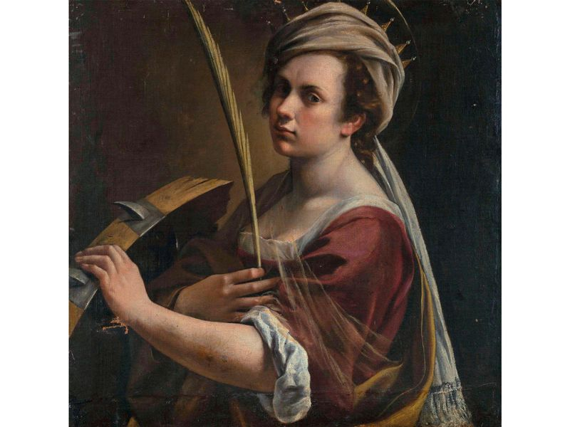 Self-Portrait as Saint Catherine of Alexandria by Artemisia Gentileschi