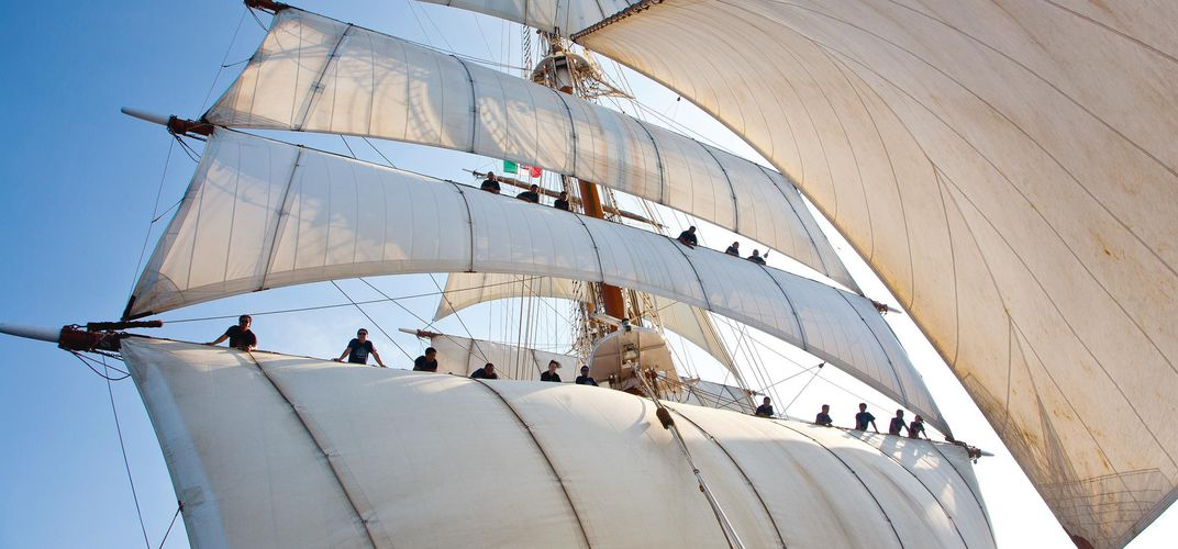 Sails on the <i>Sea Cloud II</i>