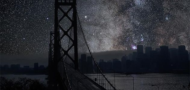 What Major World Cities Look Like at Night, Minus the Light
