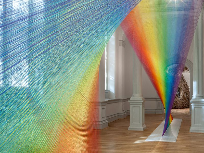f930f70870e Artist Gabriel Dawe Made a Rainbow Out of 60 Miles of Thread | At ...