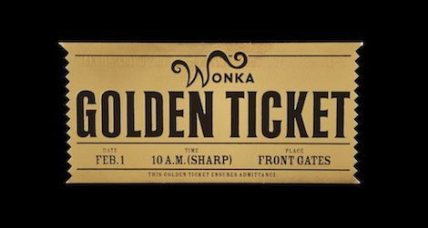 A golden ticket