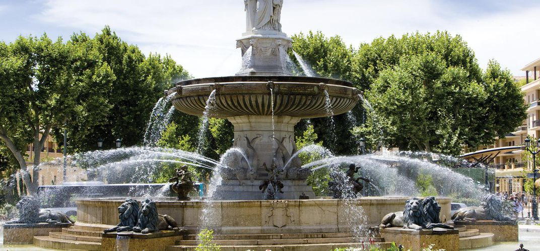 Fountain in central Aix-en-Provence