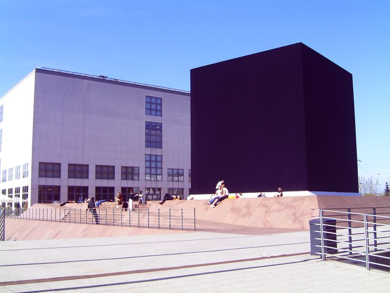 The Black Square – Hommage to Malevich near the Hamburger Kunsthalle