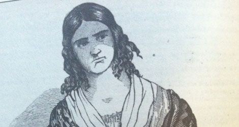 A likeness of Madame Restell, published in the National Police Gazette, 1847