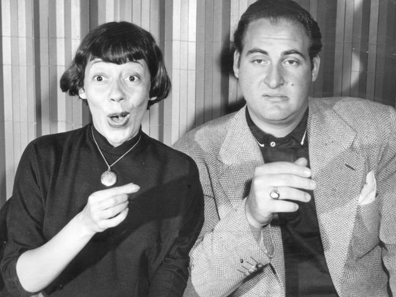 Promotional photo of Imogene Coca and Sid Caesar from Your Show of Shows