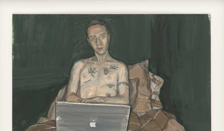Oliver at 20 / Laura Chasman / Gouache on museum mounting board, 2010 / Collection of the artist