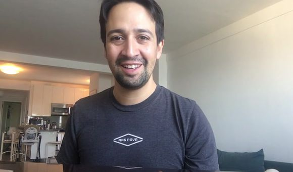 Preview thumbnail for video'Lin-Manuel Miranda's Shout Out to Dave Malloy and Rachel Chavkin