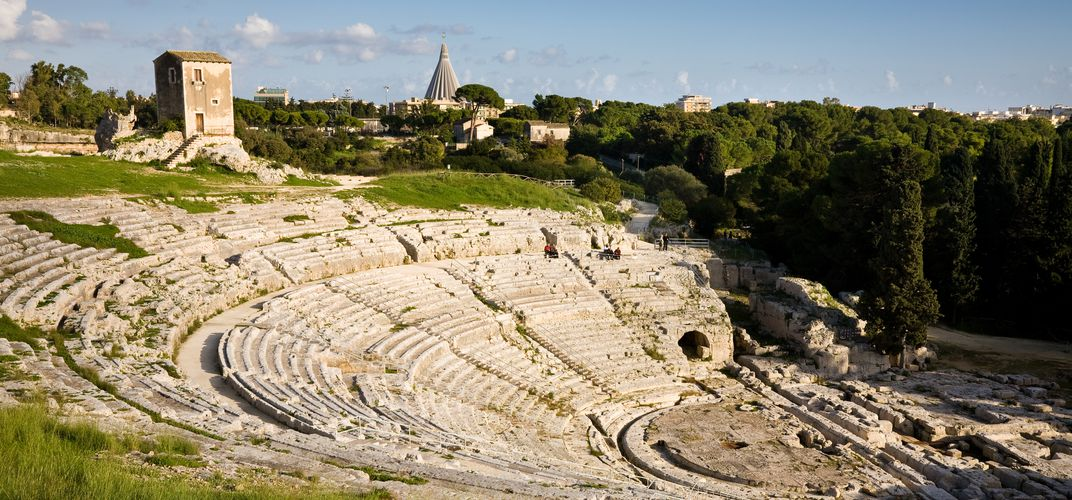 The Greek theater of Siracusa