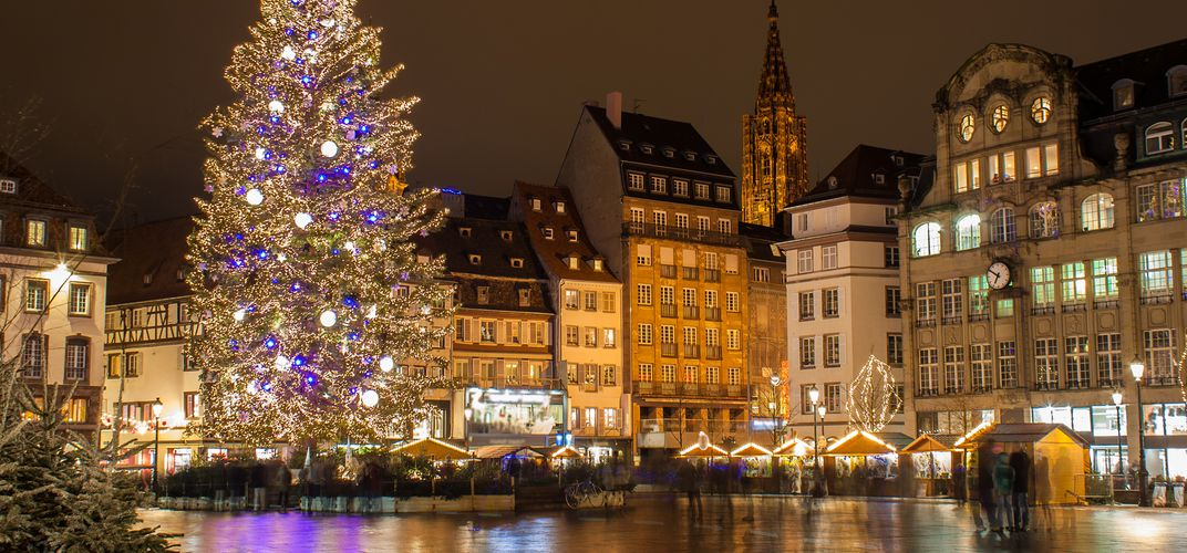 Holiday decorations at Place Kleber, Strasbourg
