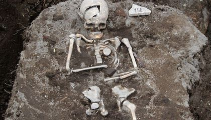 """""""Vampire Grave"""" in Bulgaria Holds a Skeleton With a Stake Through Its Heart"""