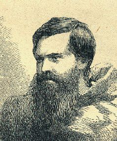 Engraving of the Arctic explorer Charles Francis Hall