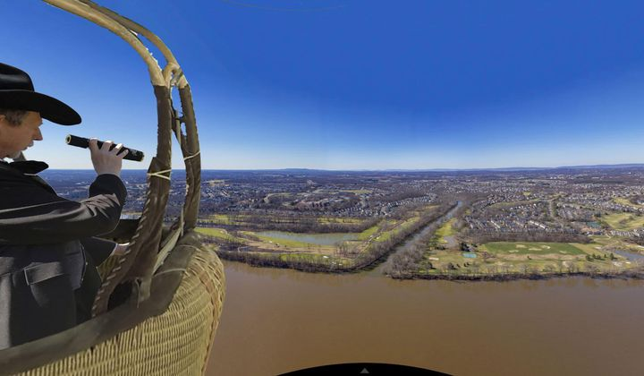 How Far Could Civil War Balloonists See?