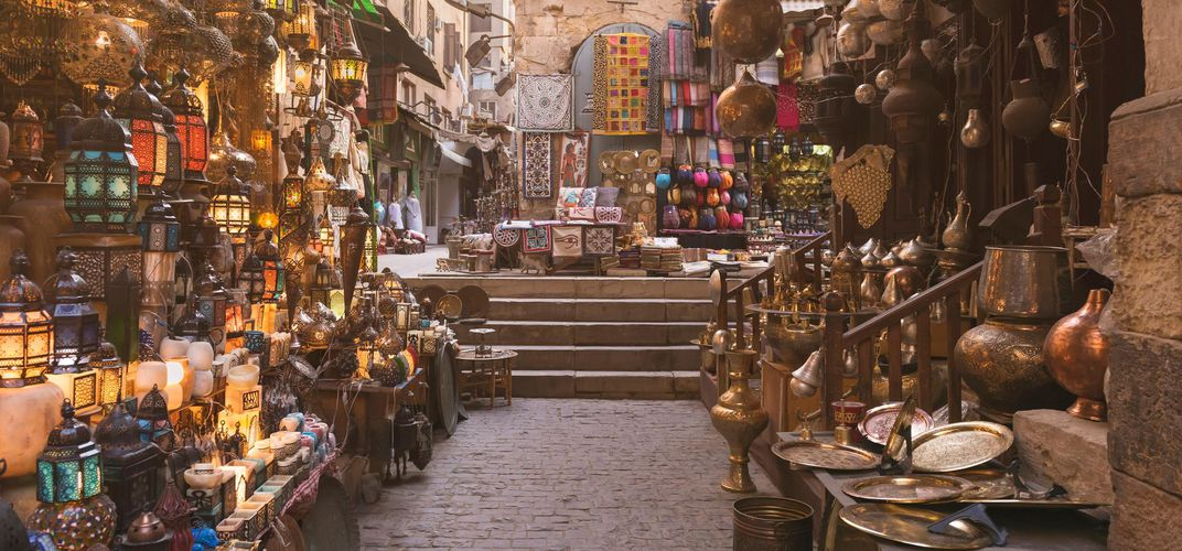 Alley in Khan el-Khalili Bazaar, Cairo