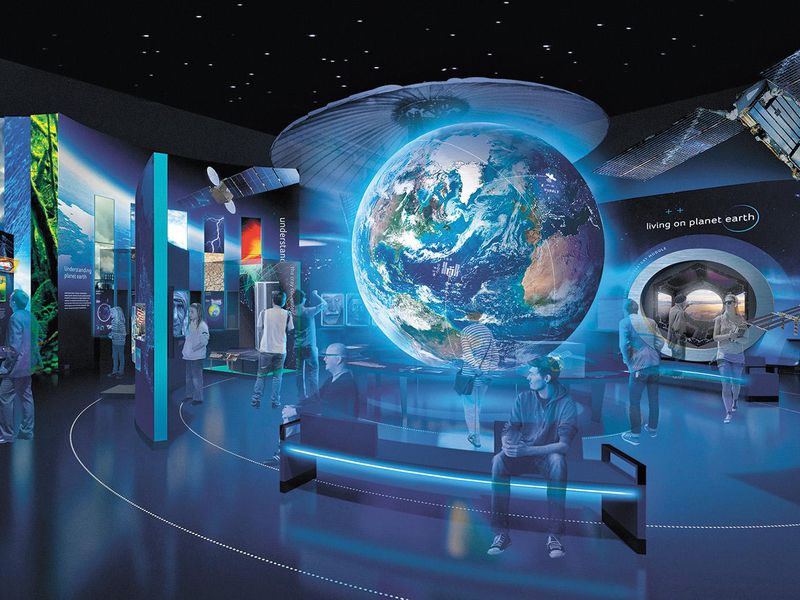 rendering of the One World Connected gallery