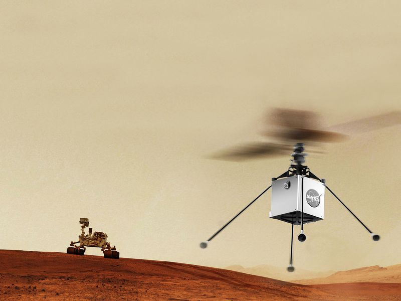 Mars Helicopter rendering