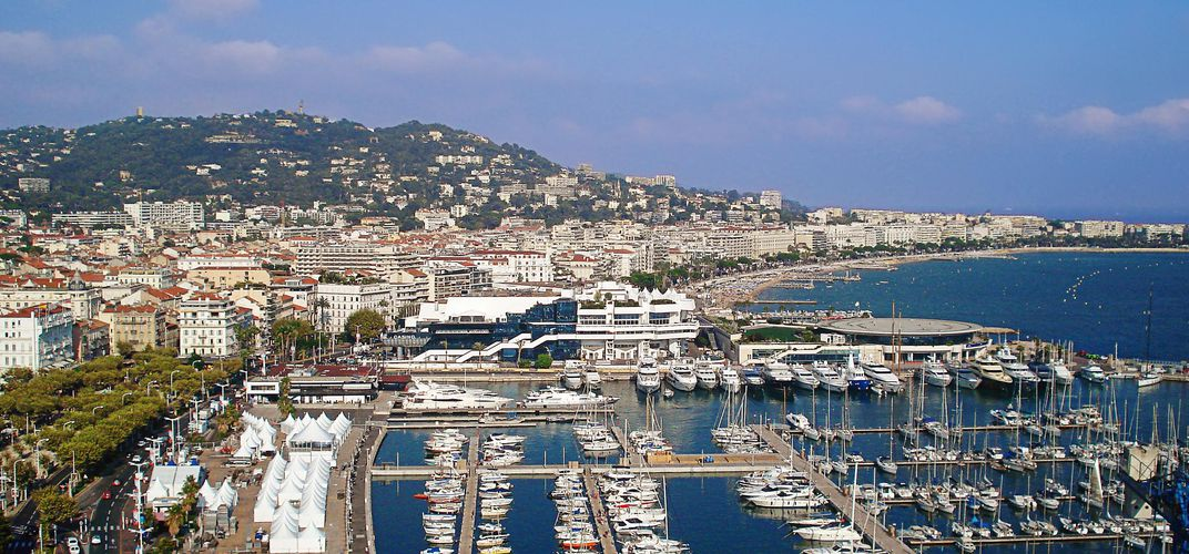 The port area of Cannes