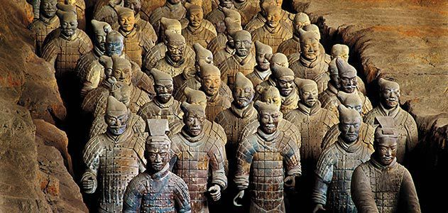 Vintage Terracotta of Qin Dynasty Figures Soldier Statue