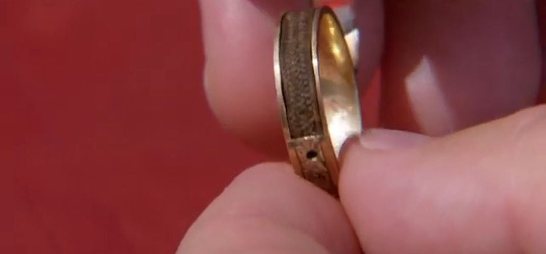 Caption: Ring Containing Charlotte Brontë's Hair Discovered