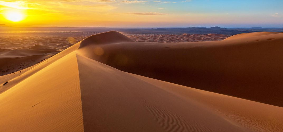 Sand dunes of Morocco
