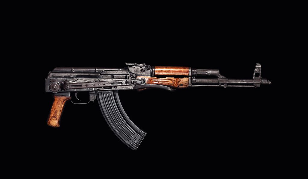 A Russian-made assault rifle that was found next to his body is presumed to have belonged to him.