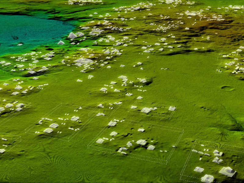 Laser Imaging Reveals 60000 Maya Structures Under Jungle Canopy