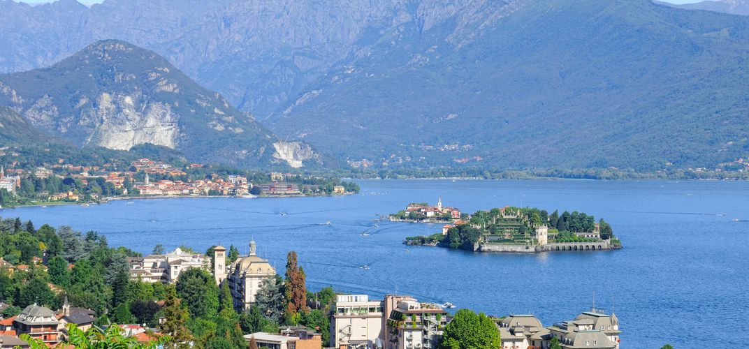 The village of Stresa, located on Lake Maggiore