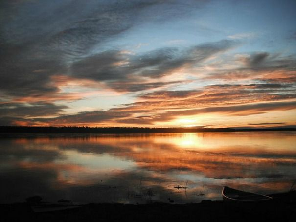 The Mackenzie River near Fort Simpson, Northern Territories, Canada.