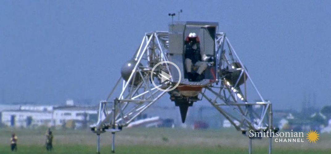Caption: How Neil Armstrong Trained to Land the Lunar Module