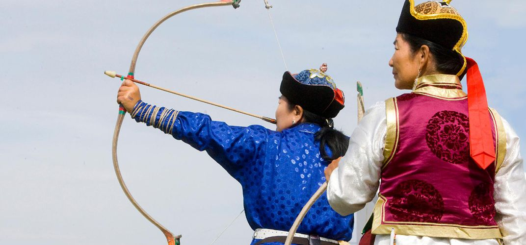 Archery competition, Naadam Festival