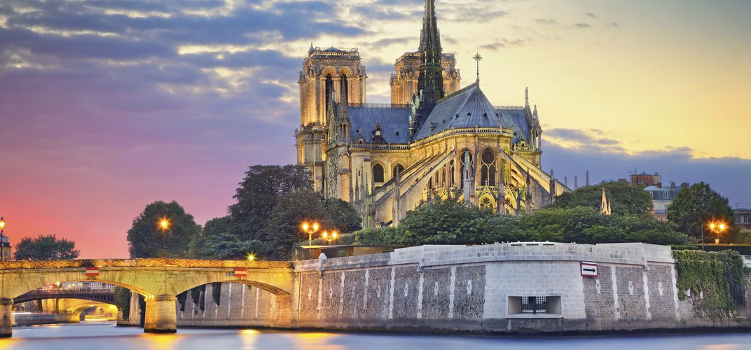 Notre Dame Cathedral, along the Seine River