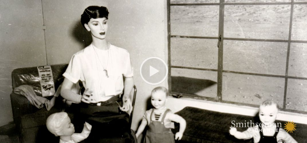 Caption: Intense Footage of Fake Towns Used for 1950s Nuclear Tests