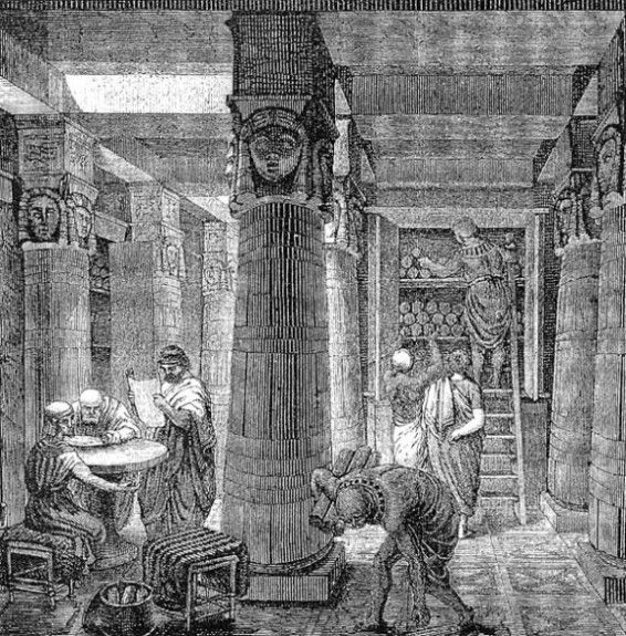 """The Great Library of Alexandria"" by O. Von corven, c 19th century."