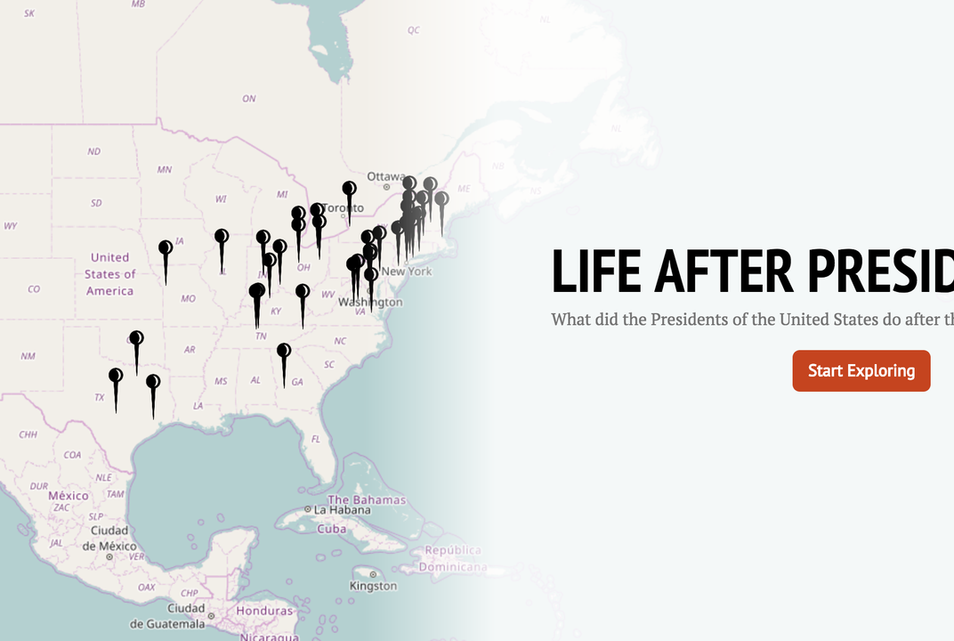 This Interactive Maps Out the Lives of Former Presidents   History ...